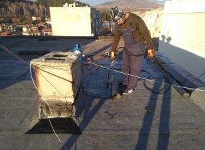 Газопламъчна хидроизолация на покрив в град Перник 3