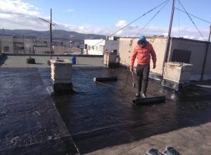 Газопламъчна хидроизолация на покрив в град Перник 4