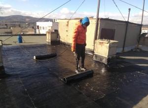 Газопламъчна хидроизолация на покрив в град Перник 5