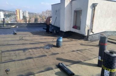 Газопламъчна хидроизолация на покрив 11