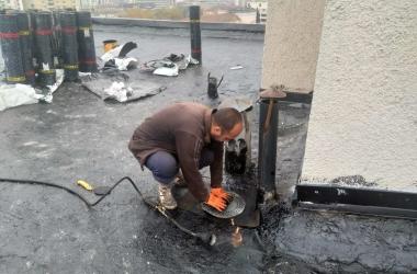 Газопламъчна хидроизолация на покрив 5
