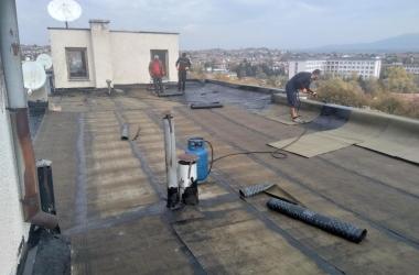 Газопламъчна хидроизолация на покрив 26