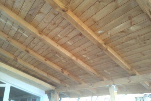 Удължаване на навес с импрегниран дървен материал в град София