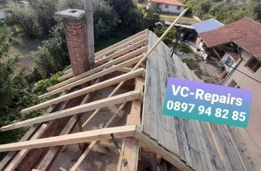 Изграждане на нов покрив в село Стефаново 13