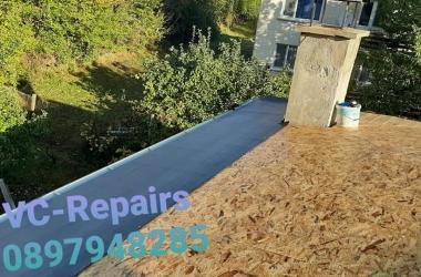 Изграждане на нов покрив в Правец 13