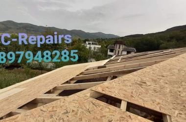 Изграждане на нов покрив в Правец 14