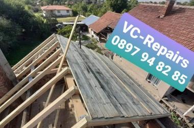 Изграждане на нов покрив в село Стефаново 15