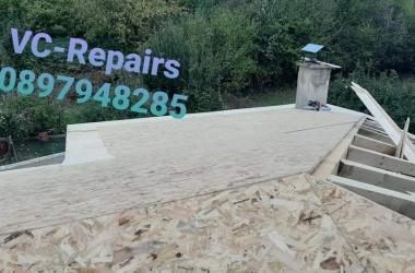 Изграждане на нов покрив в Правец 15