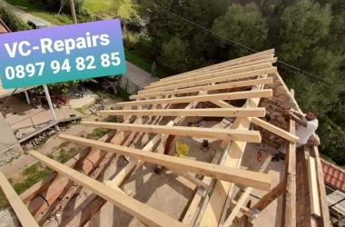 Изграждане на нов покрив в село Стефаново 16