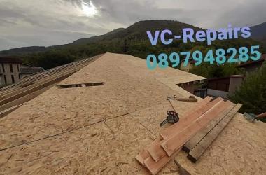 Изграждане на нов покрив в Правец 16