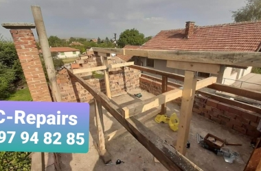 Изграждане на нов покрив в село Стефаново 17