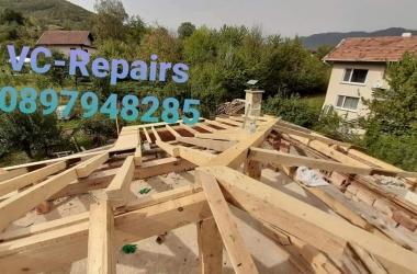 Изграждане на нов покрив в Правец 17