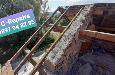 Изграждане на нов покрив в село Стефаново 18