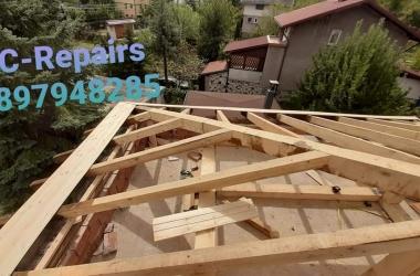 Изграждане на нов покрив в Правец 18