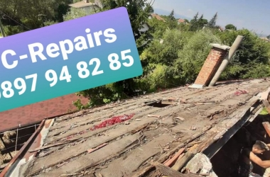 Изграждане на нов покрив в село Стефаново 19