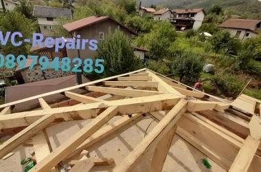 Изграждане на нов покрив в Правец 19