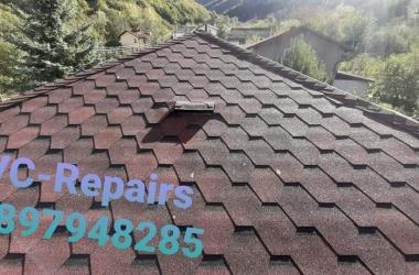 Изграждане на нов покрив в Правец 2