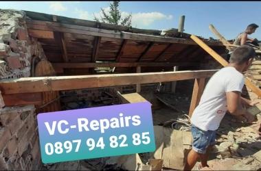 Изграждане на нов покрив в село Стефаново 20