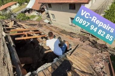 Изграждане на нов покрив в село Стефаново 21