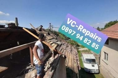 Изграждане на нов покрив в село Стефаново 22