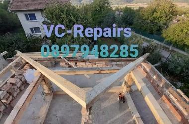 Изграждане на нов покрив в Правец 22