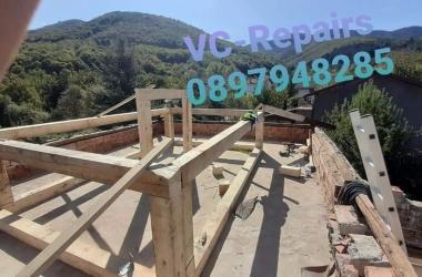 Изграждане на нов покрив в Правец 23