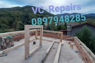 Изграждане на нов покрив в Правец 24