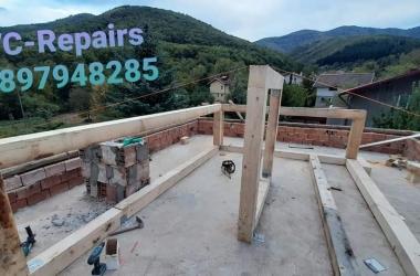 Изграждане на нов покрив в Правец 25