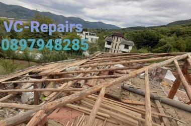 Изграждане на нов покрив в Правец 26