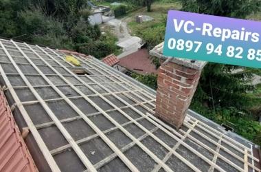 Изграждане на нов покрив в село Стефаново 6