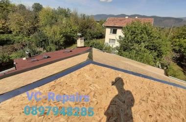 Изграждане на нов покрив в Правец 8